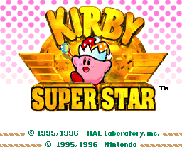 Kirby Super Star Title Screen